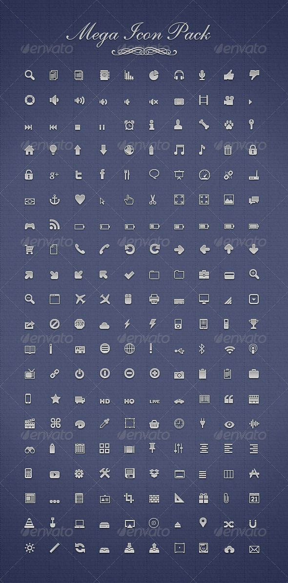 Mega Icon Pack — Photoshop PSD #arrows #pixelperfect • Available here → https://graphicriver.net/item/mega-icon-pack-/1113605?ref=pxcr