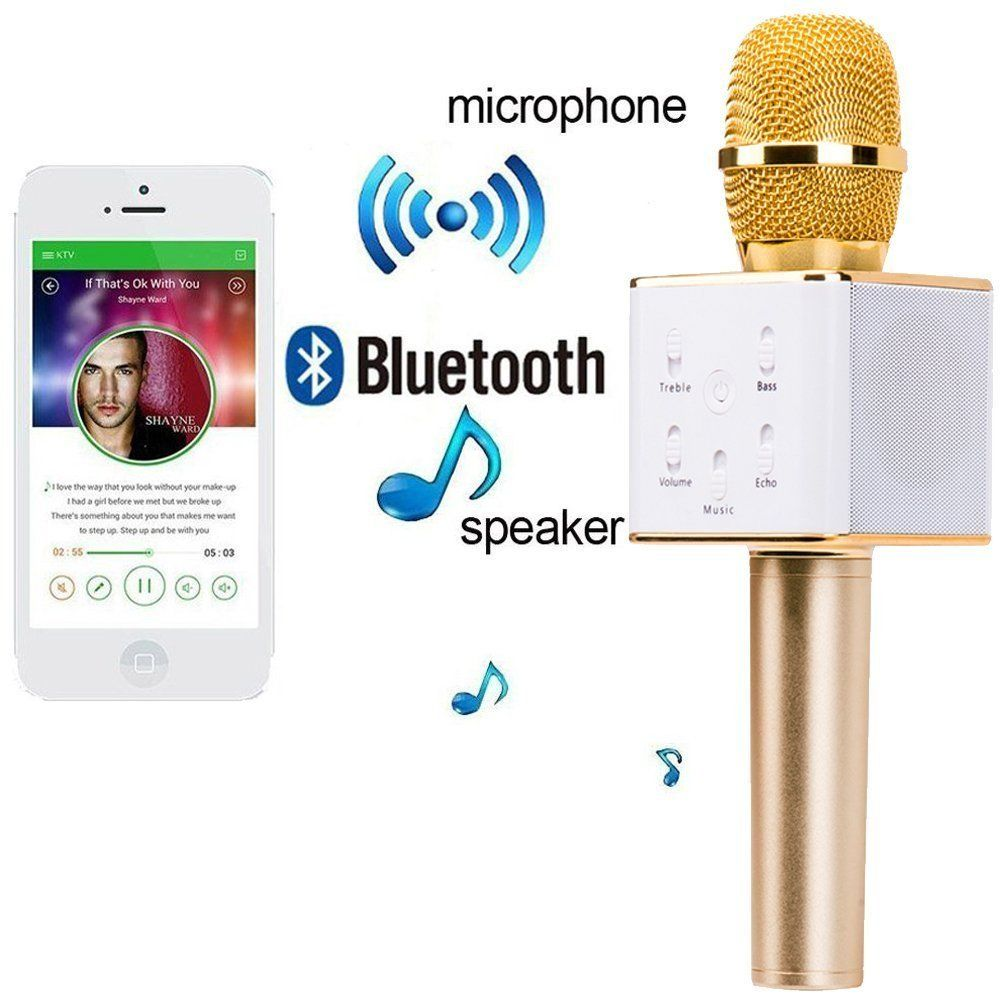 Handheld Wireless Microphone With Bluetooth Speaker Online