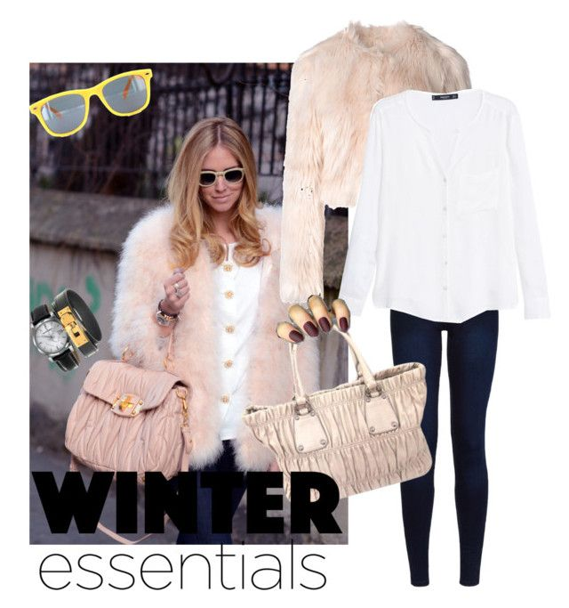 """winter..❄️"" by samantha-leopard ❤ liked on Polyvore featuring moda, Urban Bliss, Prada, RED Valentino, MANGO, Burberry ve Hermès"