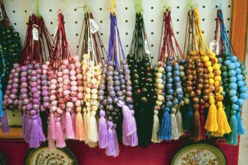 Worry beads are a great Greek souvenir to take home and are sold in just about every tourist shop in Greece.