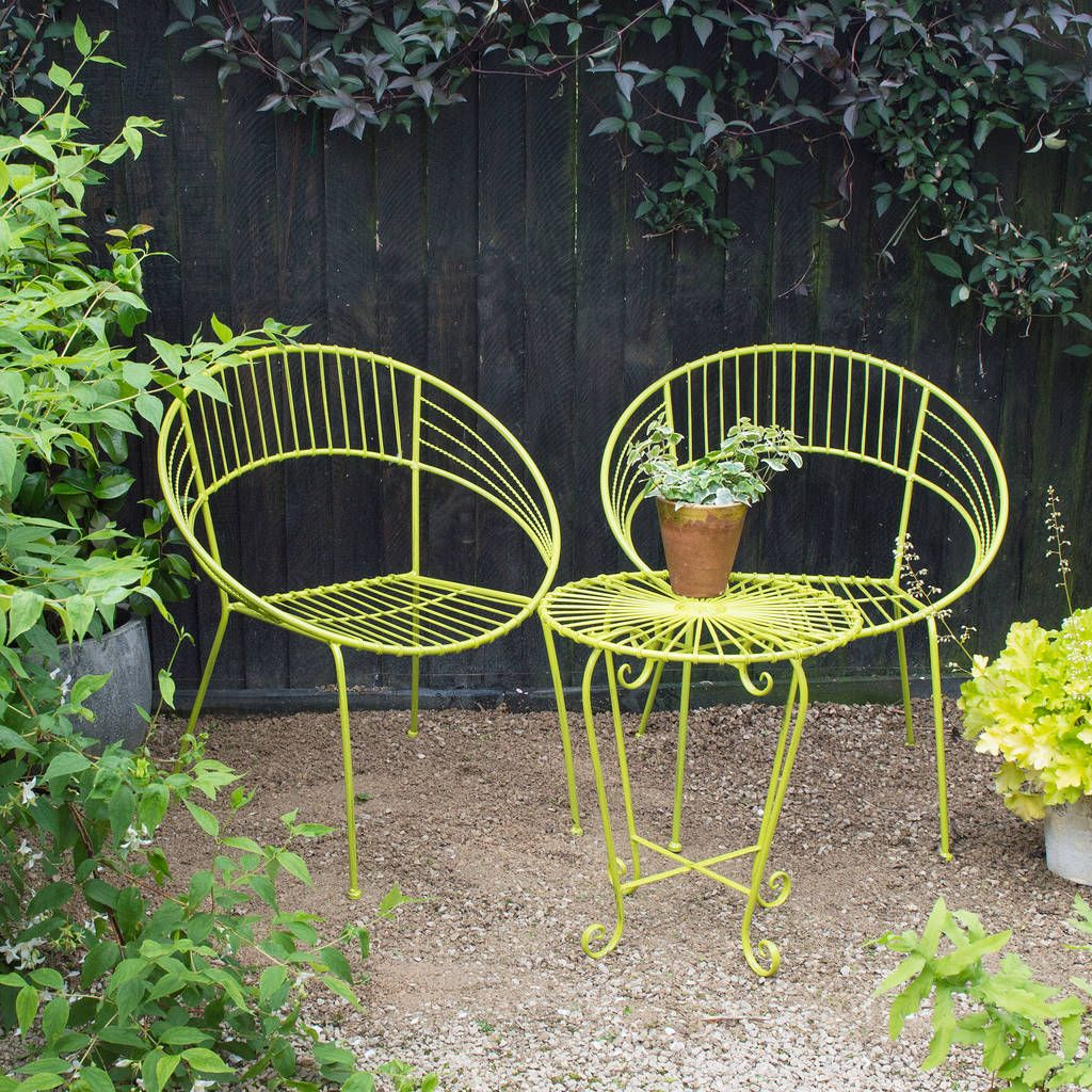 Are you interested in our metal garden bistro set ? With ...