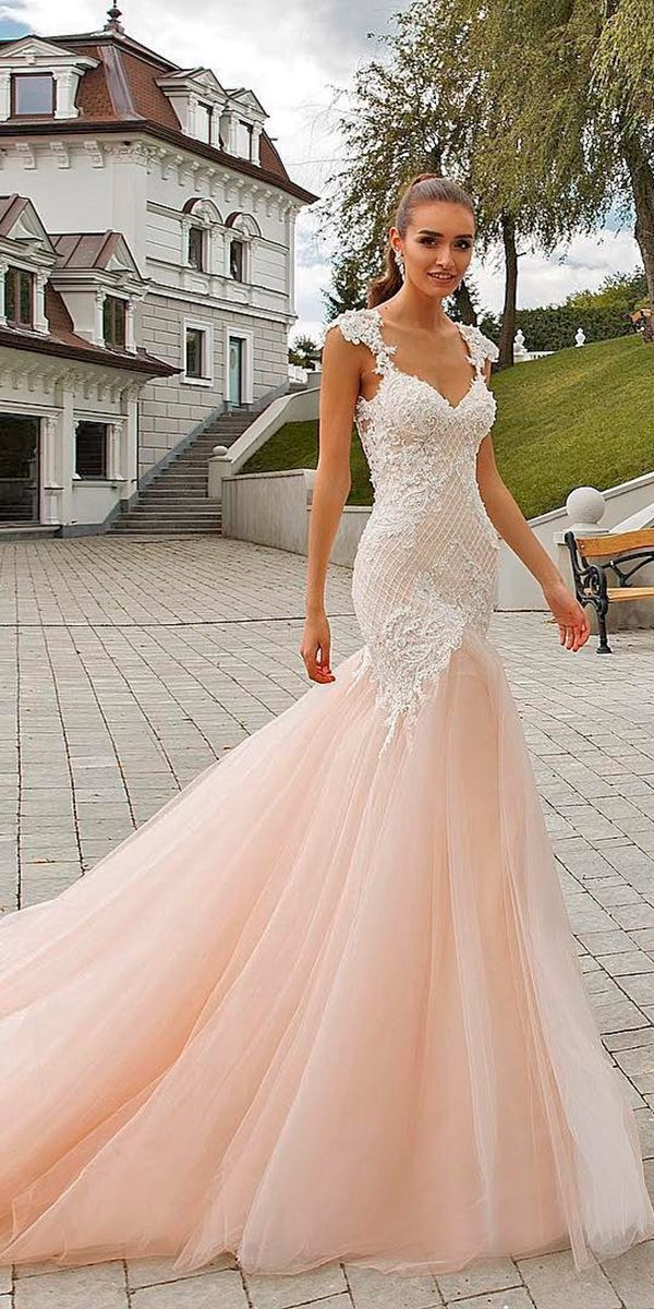 30 Brilliant Crystal Design Wedding Dresses Blush pink