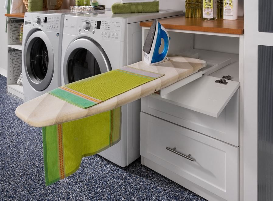Laundry Room Pull Out Ironing Board
