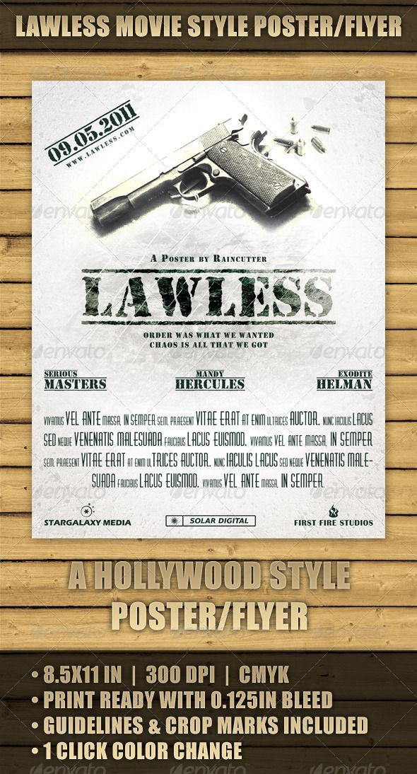 Lawless Movie Style PosterFlyer – Movie Flyer