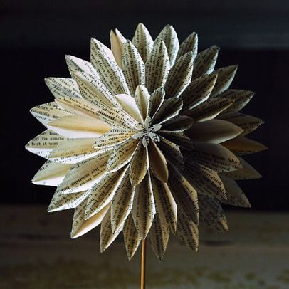 Paper flowers from book pages dahlia than blossom this clever paper flowers from book pages dahlia than blossom this clever paper flower made from mightylinksfo