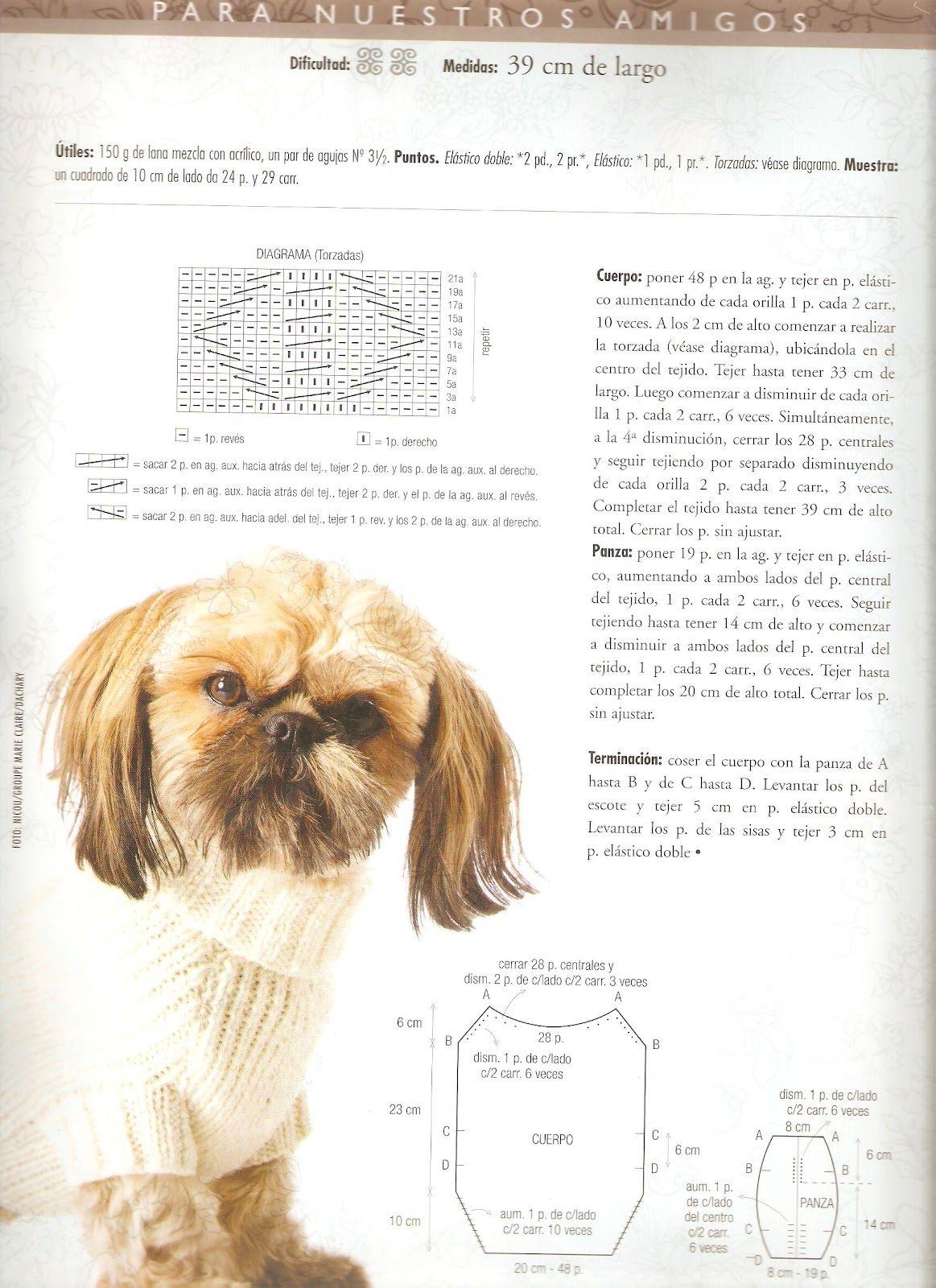 Mil cosas en el Baúl: MANTA PARA PERRO TEJIDA | köpek kıyafeti ...