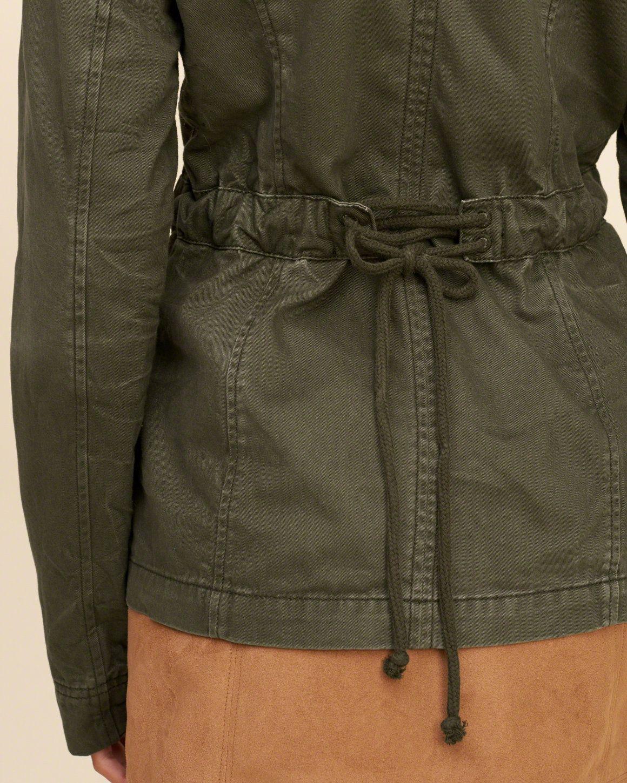 Girls Waisted Military Shirt Jacket Girls Jackets Outerwear Hollisterco Com Military Shirts Girls Jacket Outerwear Jackets [ 1450 x 1160 Pixel ]