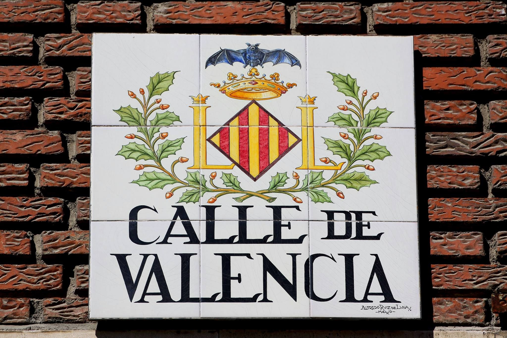 Calle De Valencia Madrid  Rtulos de calles de Madrid