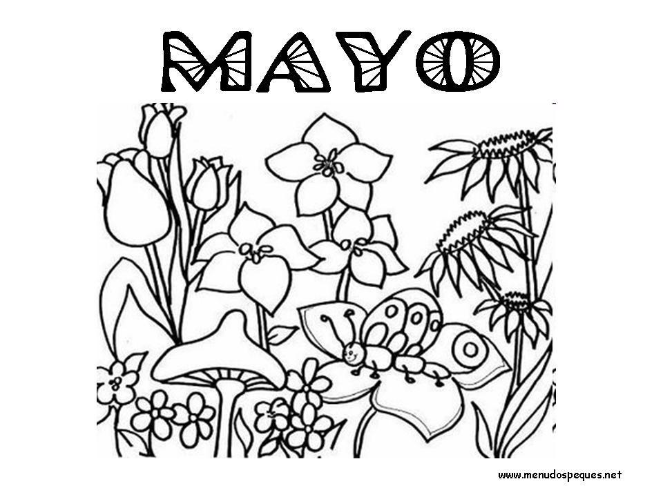 Colorear Meses del Año 05 - Mayo | meses | Colores, Dibujos para ...