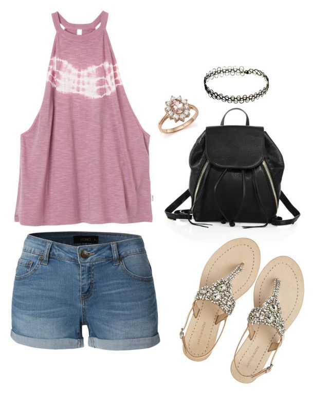 """""""Chill"""" by cutekittyxox ❤ liked on Polyvore featuring RVCA, LE3NO, Rebecca Minkoff, Antik Batik and Bloomingdale's"""