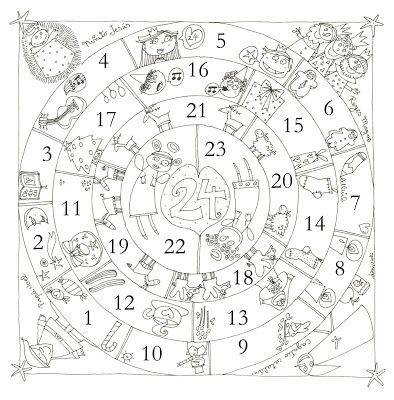 blog de los nios dibujos para colorear de navidad calendario de adviento