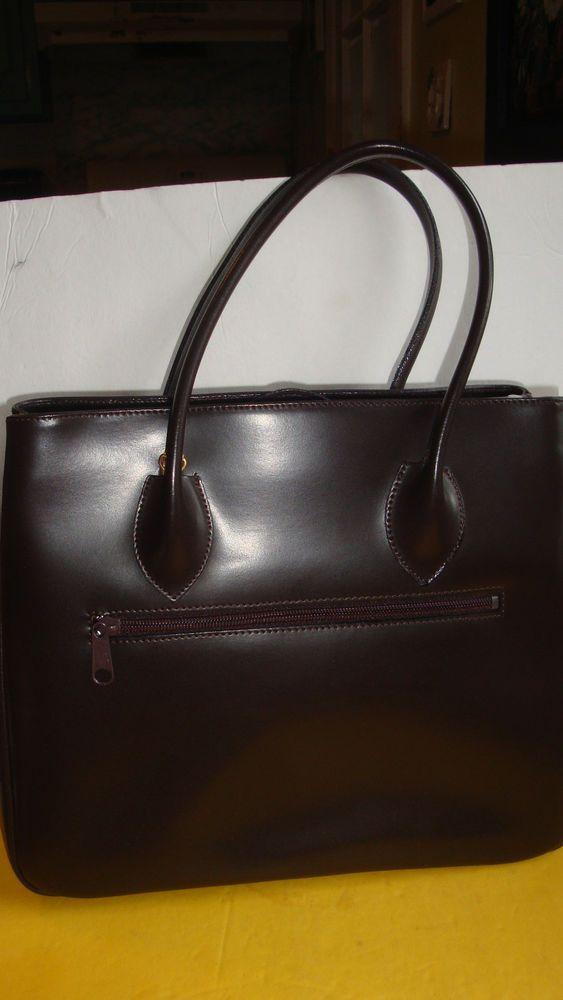 Vintage Focus Paris Made In France Brown Leather Purse Bag Focusparis Handbag