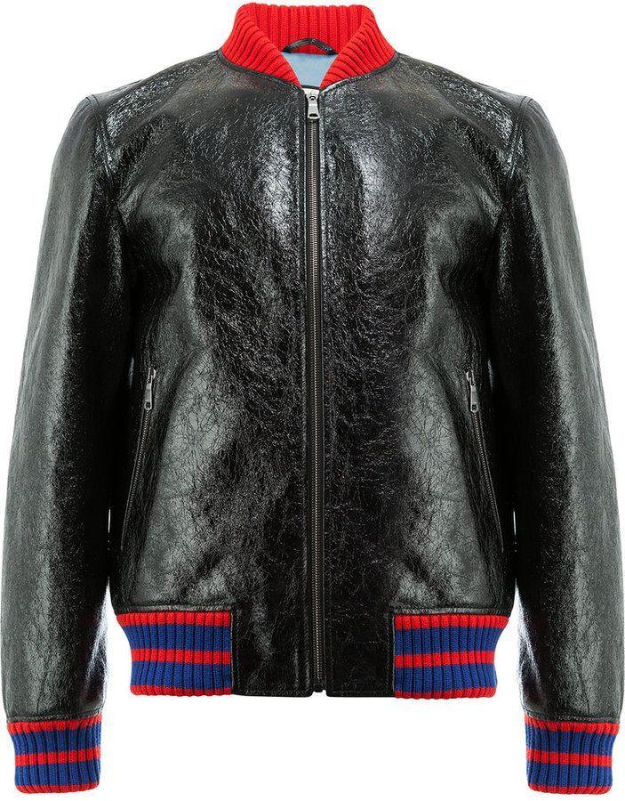 47b8d7c97 Gucci GG Web patent bomber jacket | Gucci | Jackets, Bomber Jacket ...