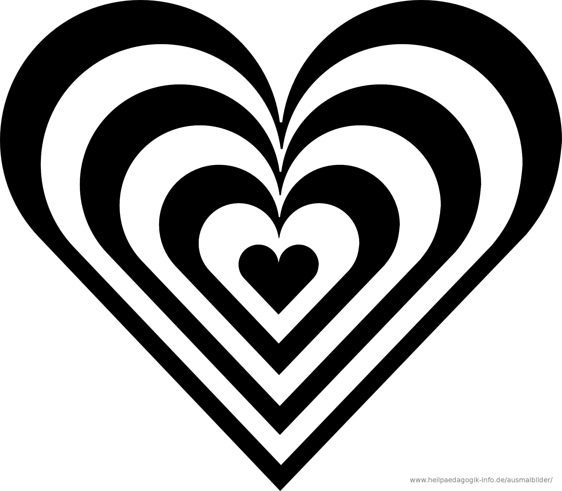 5 Beste Malvorlage Herz Groß und Klein zum Ausdrucken ...