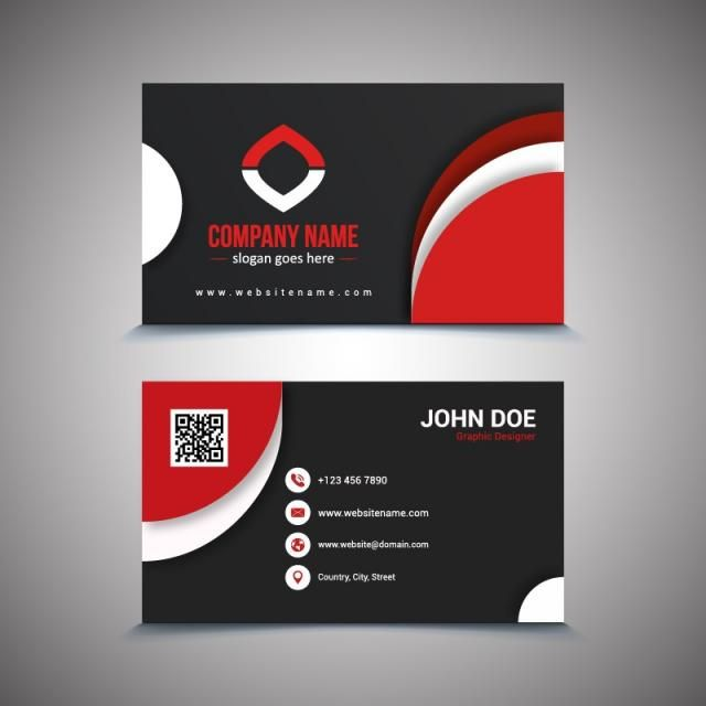 Creative And Clean Business Card Template Black And Red Colors Business Card Red Cleaning Business Cards Business Cards Vector Templates