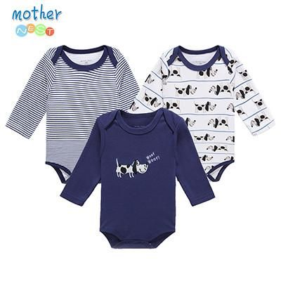 b50844d4b 3 Pcs Baby Romper Infant Romper Long Sleeve Jumpsuit Romper 12 ...