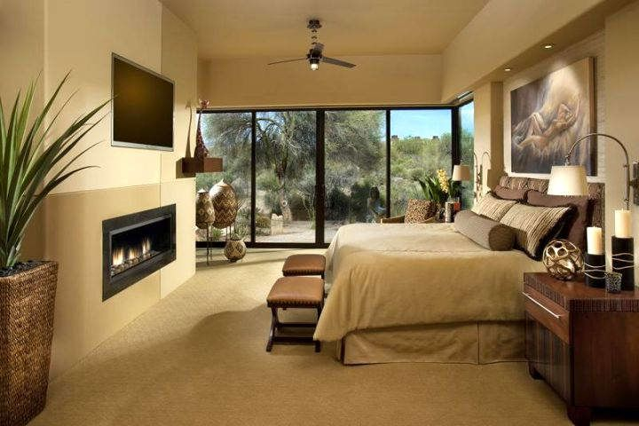 Bedroom:Fantastic Fireplace In Bedroom Decor Near Modern Tv Wall ...