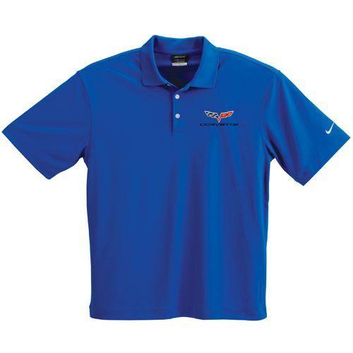 C6 Corvette Blue Nike Dry Fit Polo Shirt Nike Polo Shirts Shirts Nike Polo