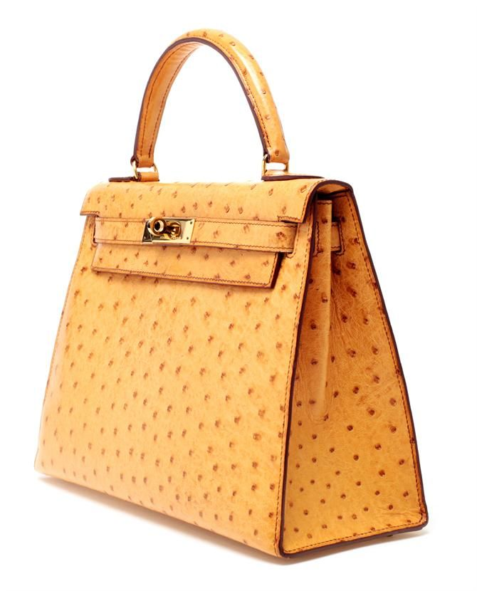 Hermes vintage ostrich kelly handbag