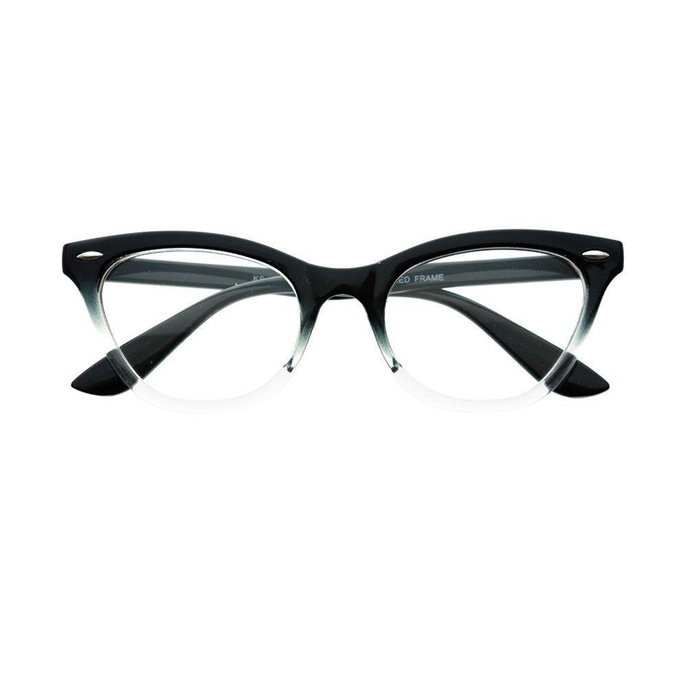 Clear Lens Fashion Cat Eye Glasses Frames Black C381 – FREYRS ...