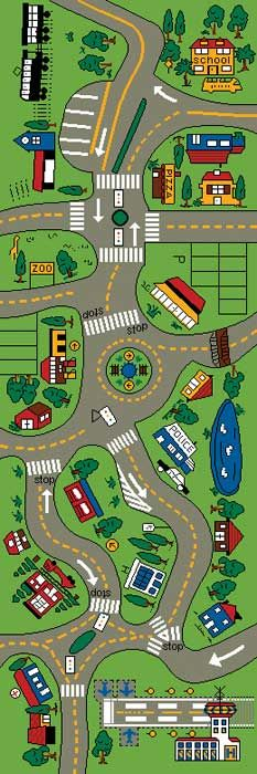 Car Play Mat Giant Road Rug For Kids