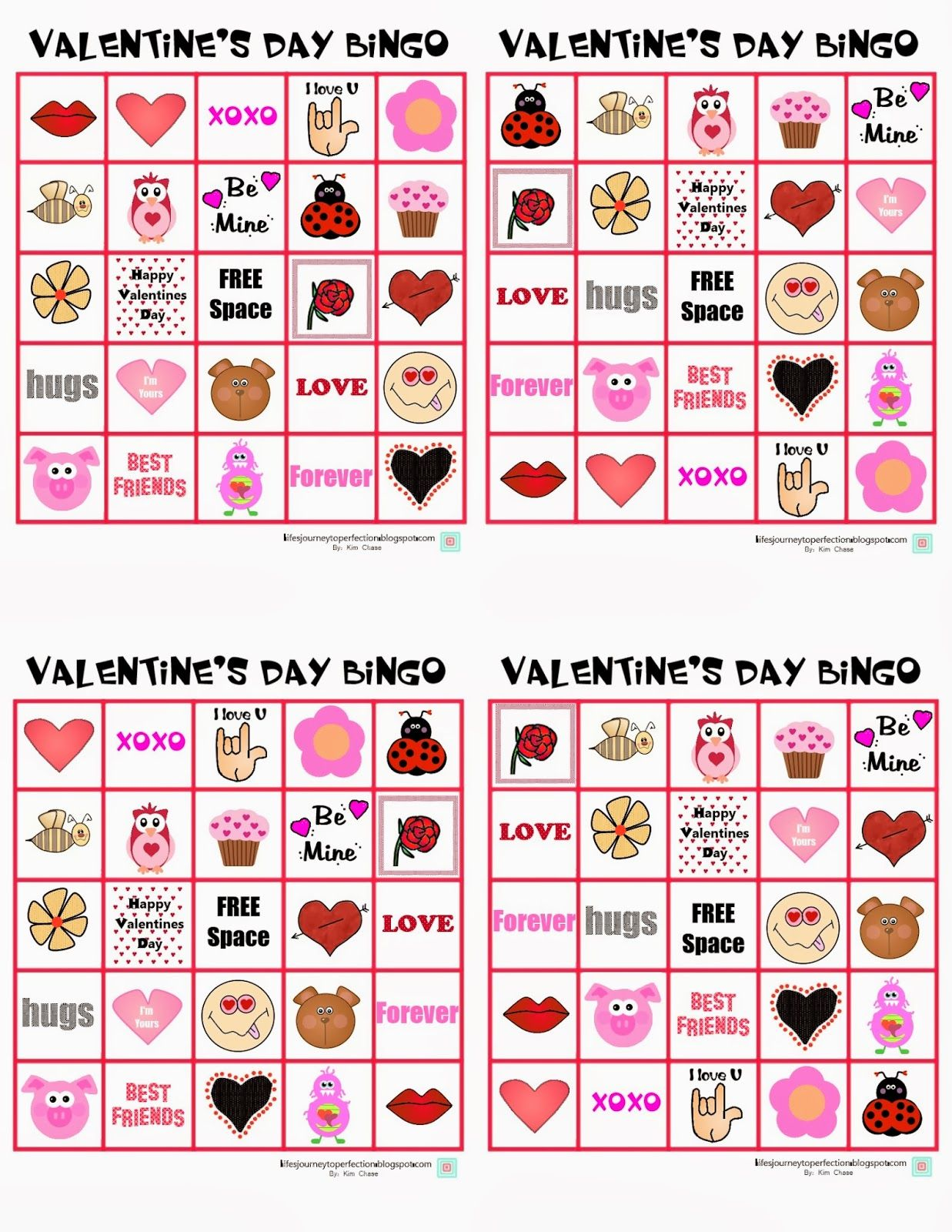 photo relating to Printable Valentines Bingo referred to as Valentines Working day Bingo: Printable Lifes Trip in direction of