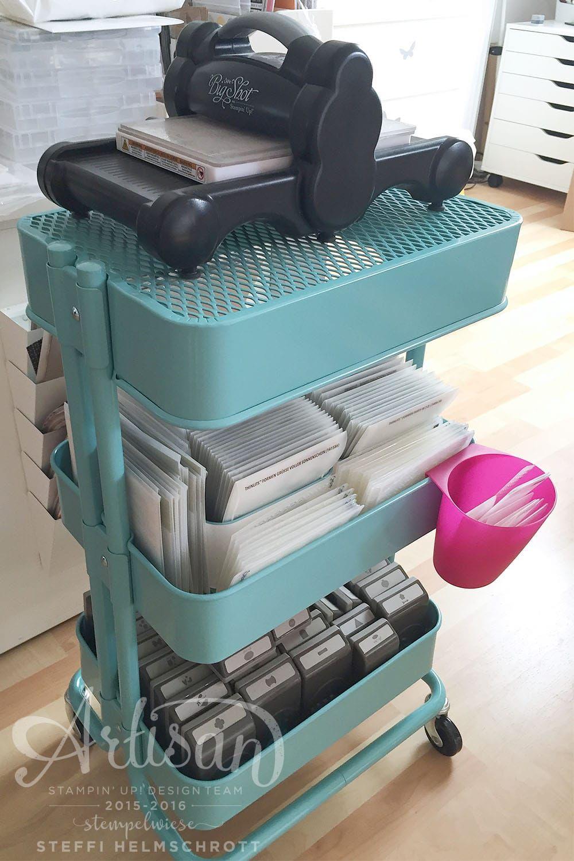 Mobile Big Shot Ikea Machts Moglich Craft Room Storage Craft Room Ikea Raskog