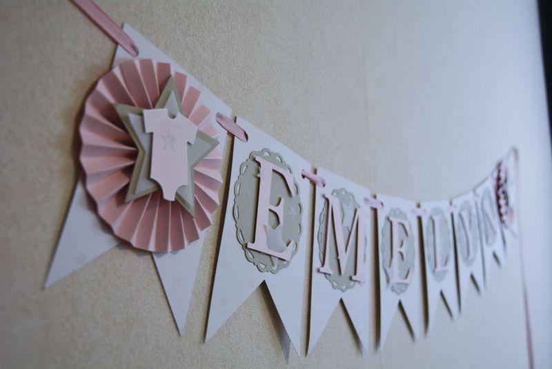 Girlande Wimpelkette Babyparty Party Deko Baby Taufe Geburt Süß Geburtsgeschenk