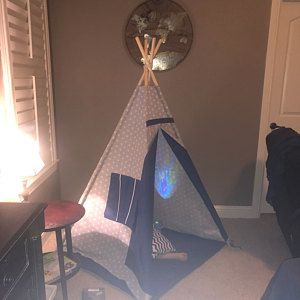 Ready to ship Teepee, Playtent, Tipi, Teepee tent, wigwam, Stars with pink