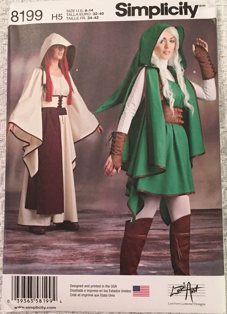 Simplicity Sewing Zelda Pattern 8199 H5 Costume Link Misses\' New ...