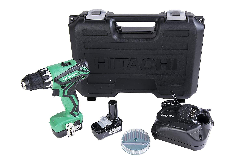Hitachi Ds10dfl2 12 Volt Peak Cordless Lithium Ion Compact Drill Driver Kit Lifetime Tool Warranty In 2020 Compact Drill Drill Driver Drill