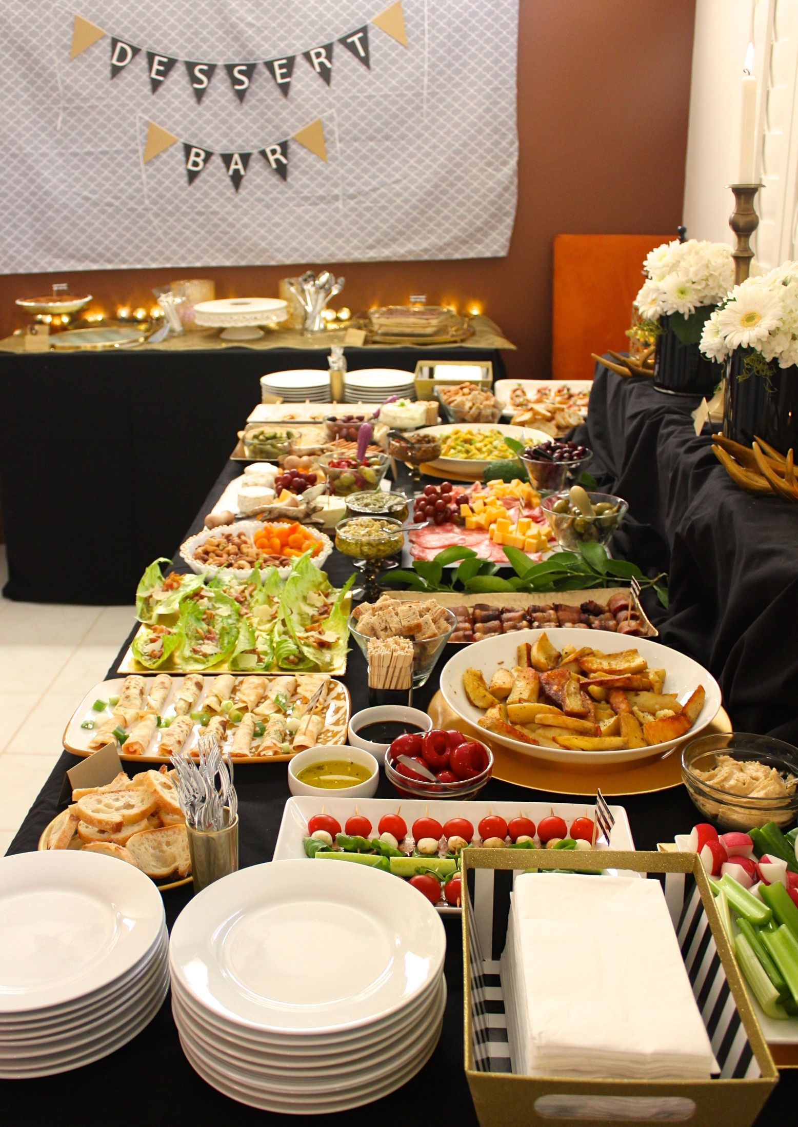 Event Catering Buffet Food Set Up Heavy Appetizers Catering