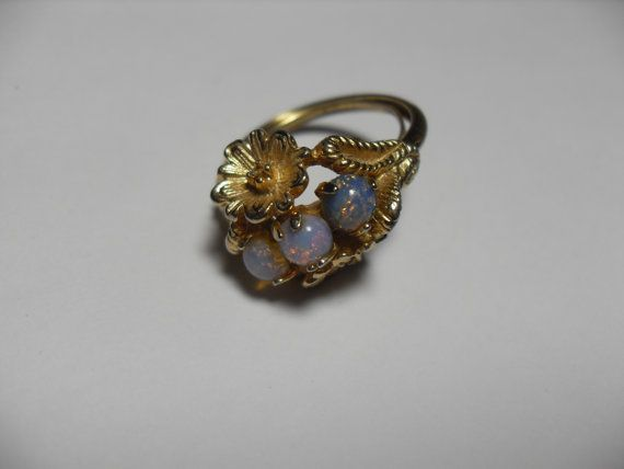 Vintage Avon Faux Opal Ring Vintage Ring By