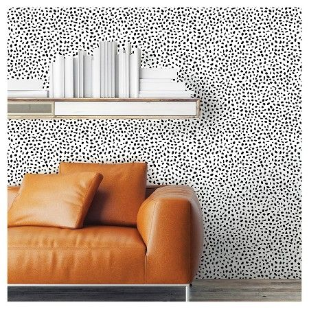 Speckled Dot Peel Stick Wallpaper Black Opalhouse Peel And Stick Wallpaper Target Wallpaper Flat Paint