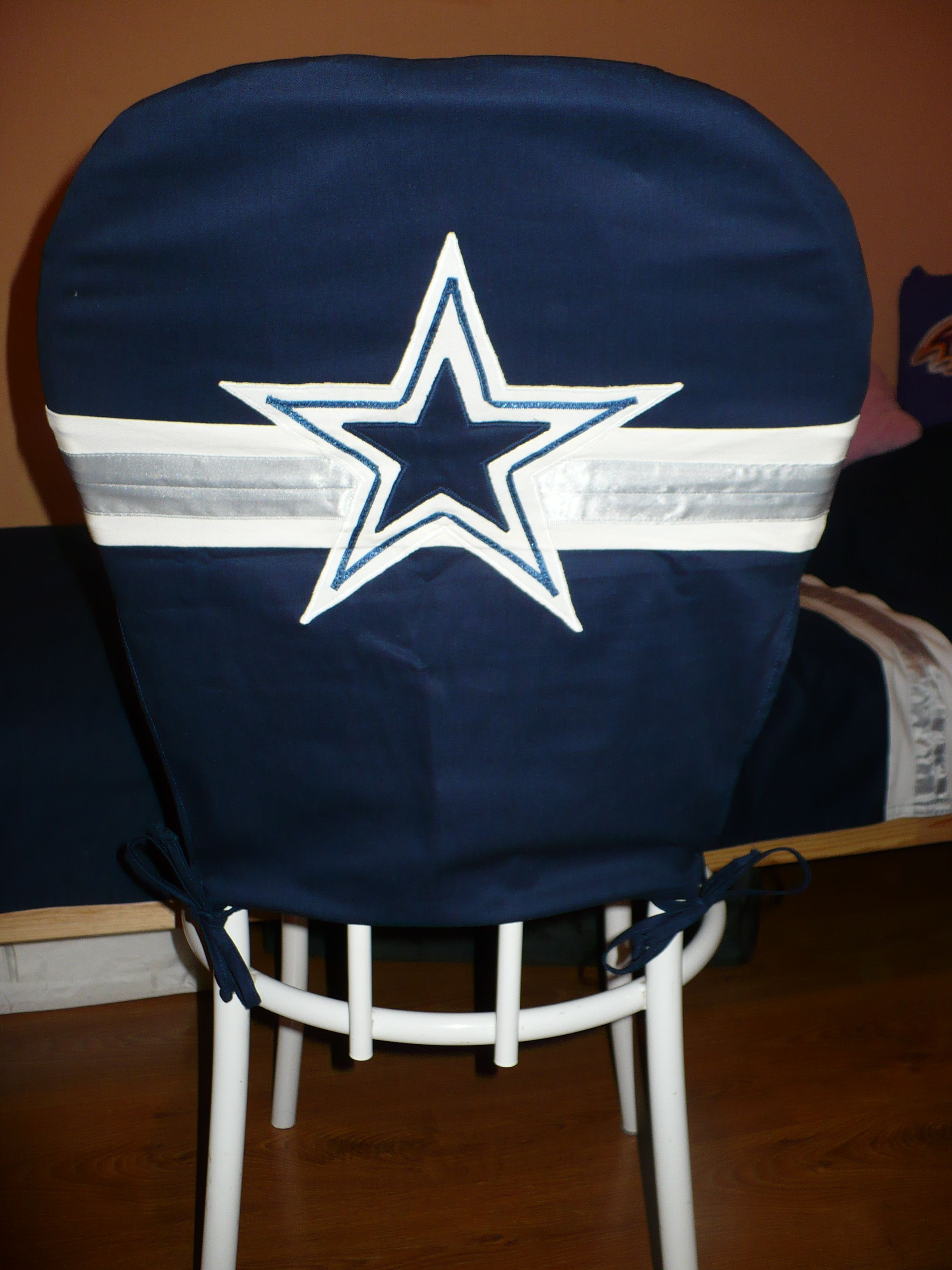 Dallas Cowboys Chair Cover Painting Plastic Lawn Chairs And Covers From The Back Baltimore Ravens