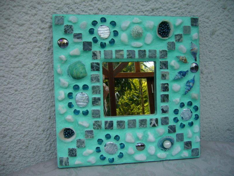 Mosaik Spiegel Muscheln Von Mosaikhandwerk Auf Dawanda