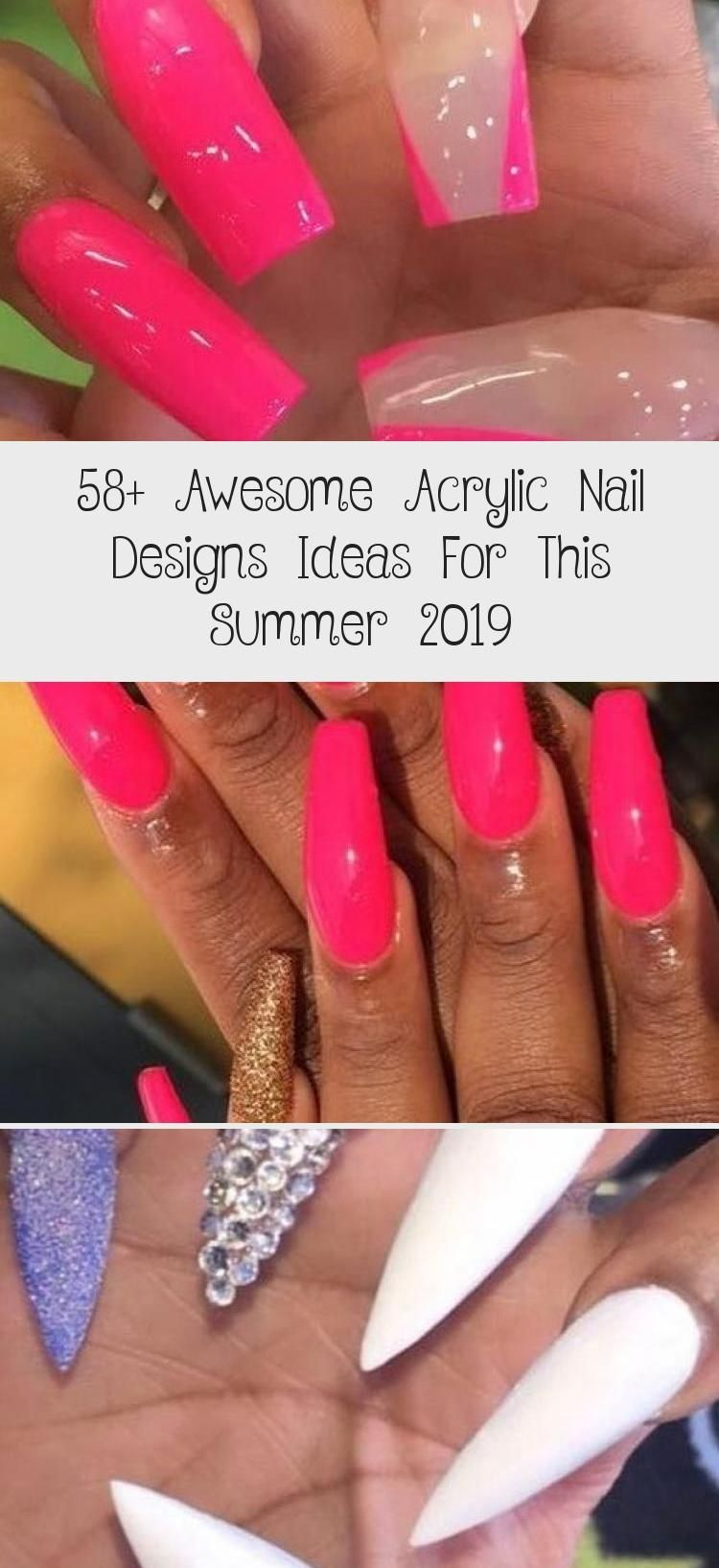 58+ Awesome Acrylic Nail Designs Ideas For This Summer 2019 - Nail Art Desing 58+ Awesome Acrylic Nail Designs Ideas...#acrylic #art #awesome #designs #desing #ideas #nail #summer