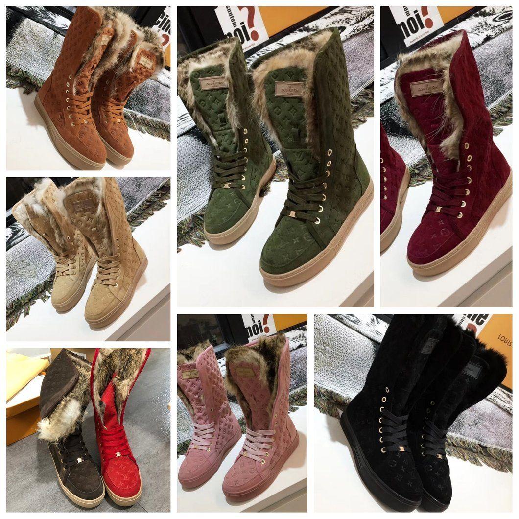 LV Lux Fur Boots #sneaker #kicks #yeezy