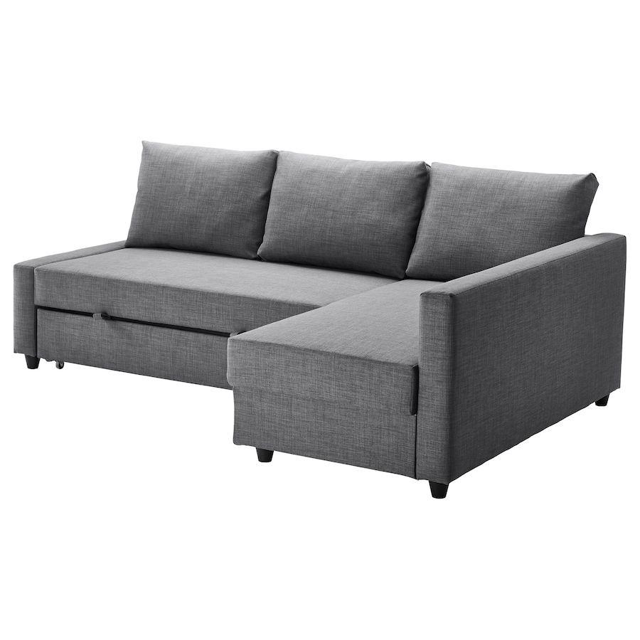 Friheten Sleeper Sectional 3 Seat W Storage Skiftebo Dark Gray Sofa Bed With Storage Corner Sofa Bed With Storage Ikea Corner Sofa