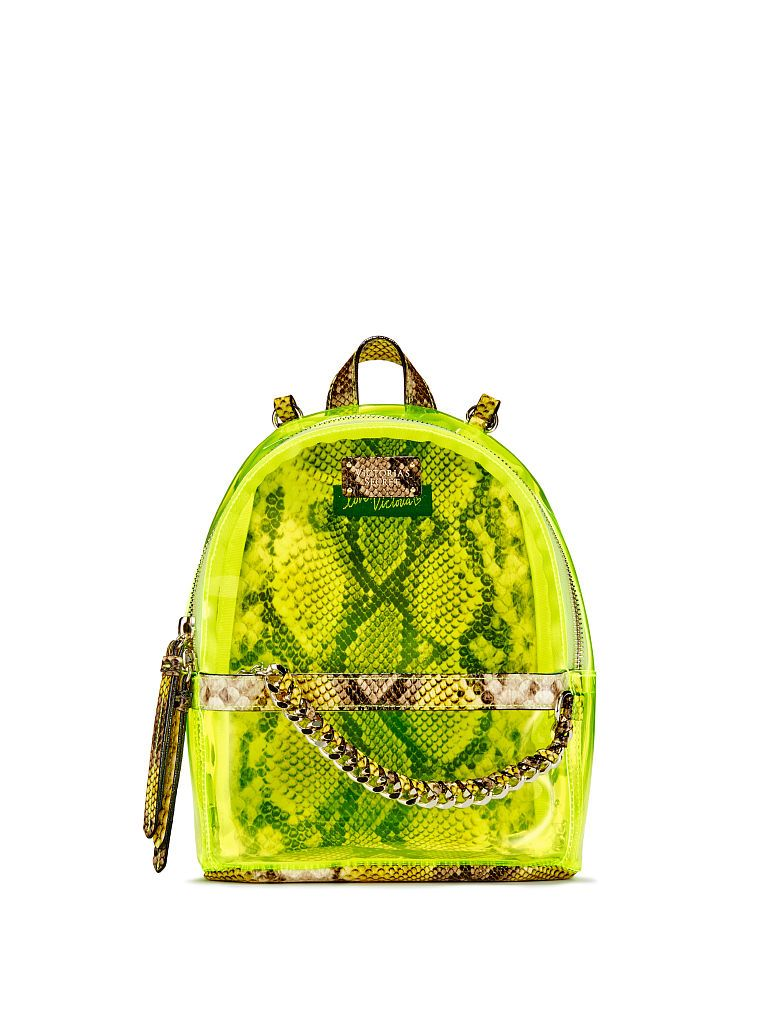 Victoria s Secret Neon Python Small City Backpack  0d7c7c192a5