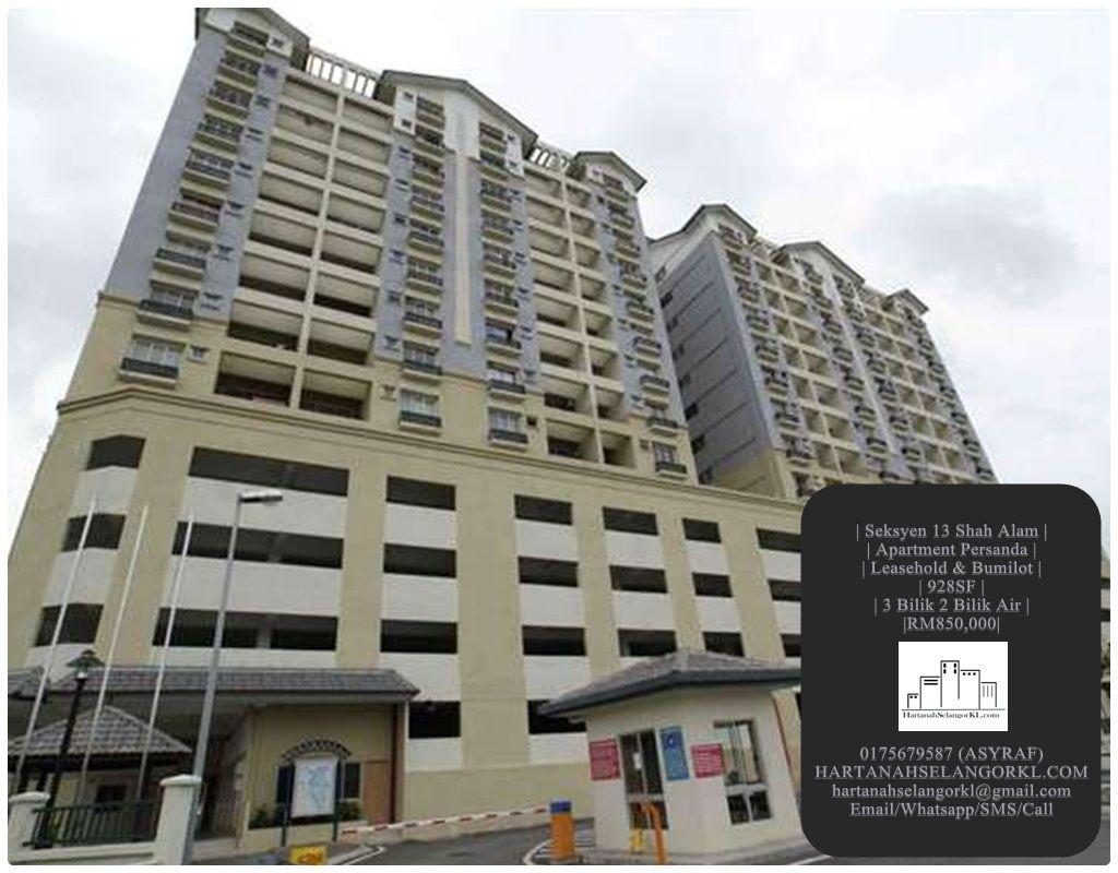 Seksyen 13 Shah Alam Apartment Persanda Tingkat 14
