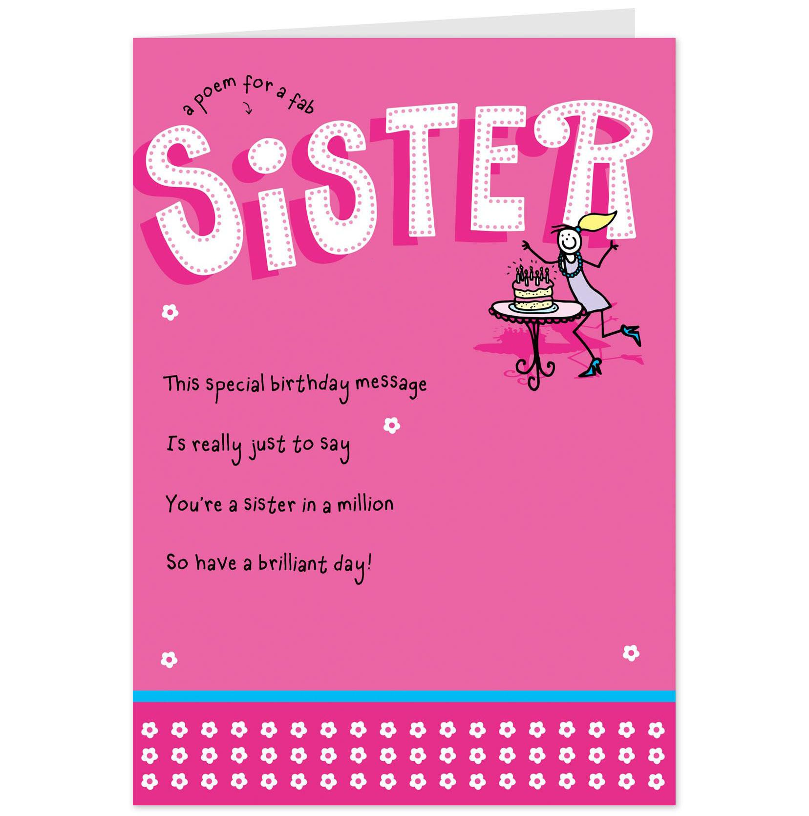 birthday cards for sister free printables pinterest