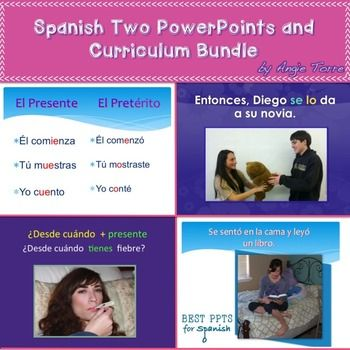 This Spanish Two Powerpoint And Curriculum Bundle Has 4280