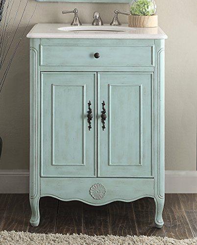 26 Cottage Style Pastel Light Blue Daleville Bathroom Sink Vanity