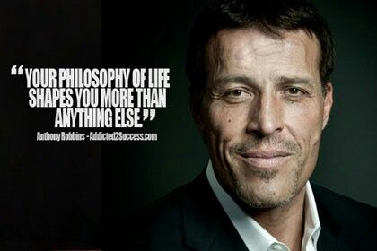 Life Philosophy | Tony robbins quotes, Picture quotes ...