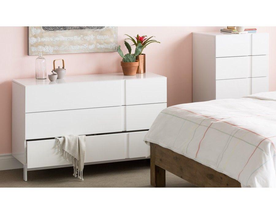 Villa Commode 3 Tiroirs Blanc Idees Pour La Maison Bedroom