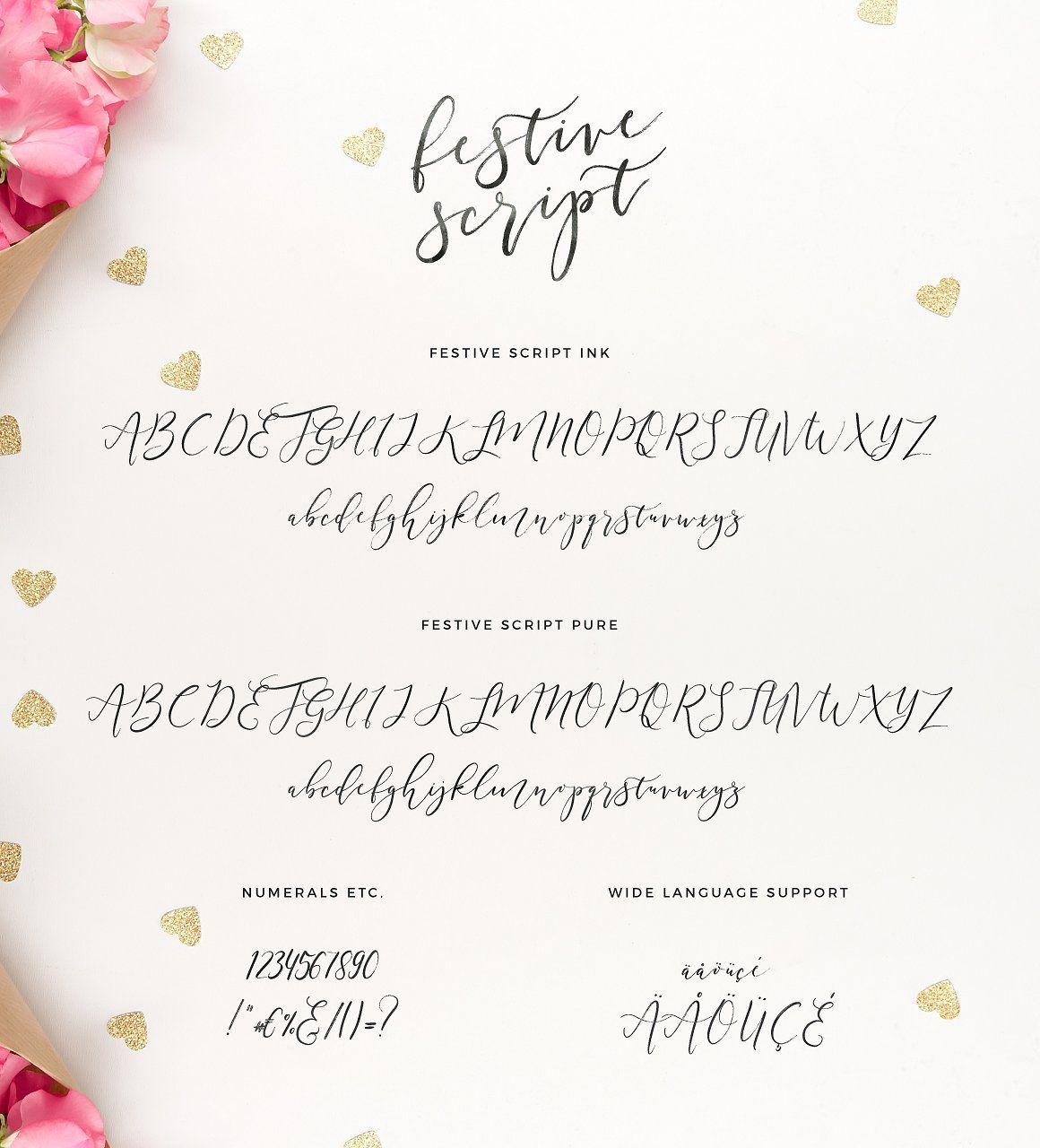 The Partylicious Festive Script Lettering Tutorial Fonts Hand Lettering Fonts Lettering Fonts