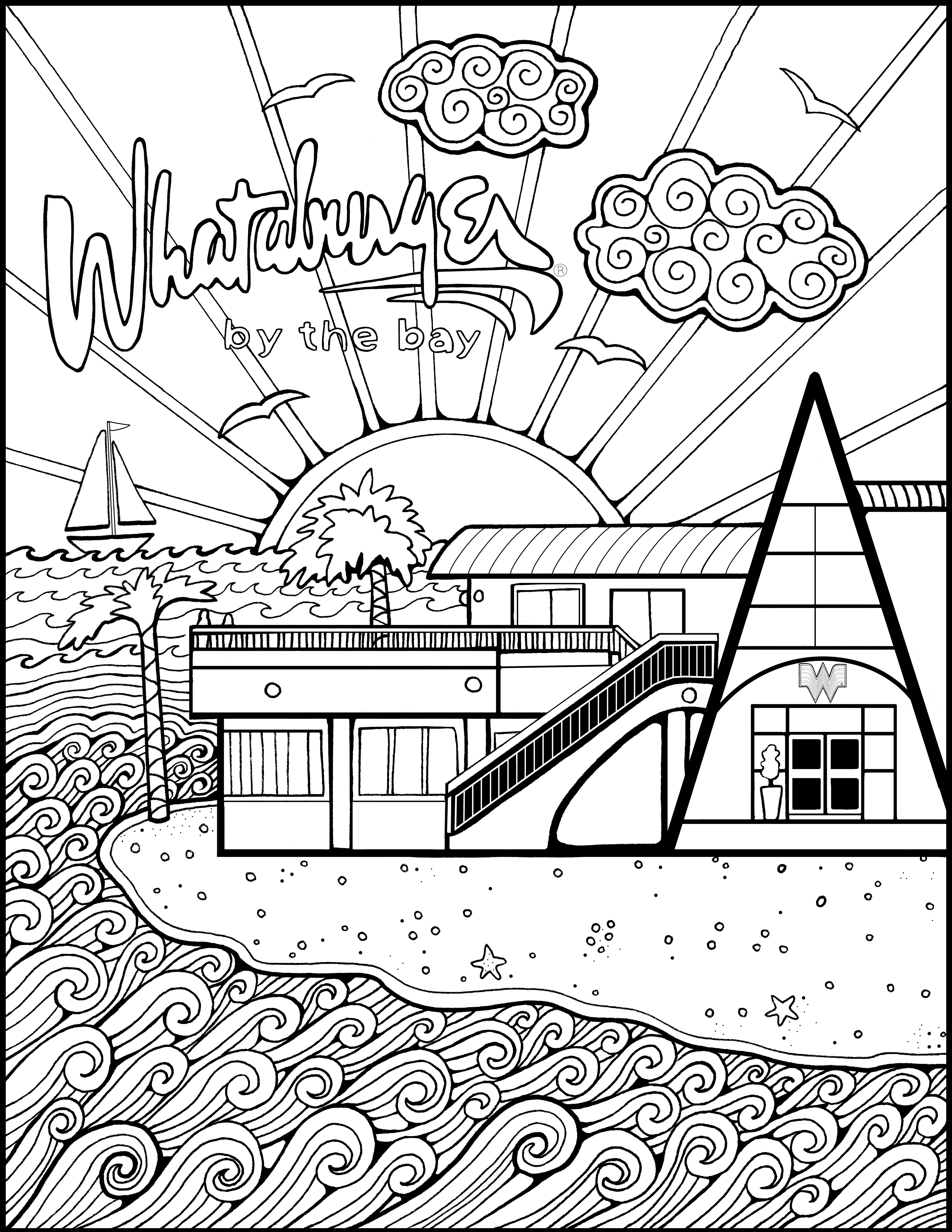 The Art of the Burger  Coloring pages inspirational, Coloring