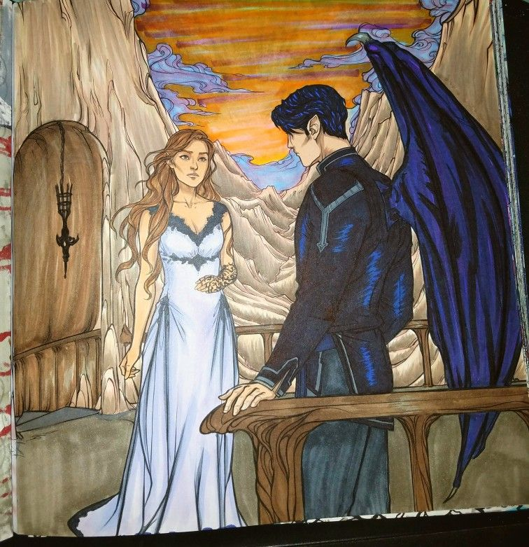 Acotar Coloring Book A Court Of Mist And Fury Sarah J Maas