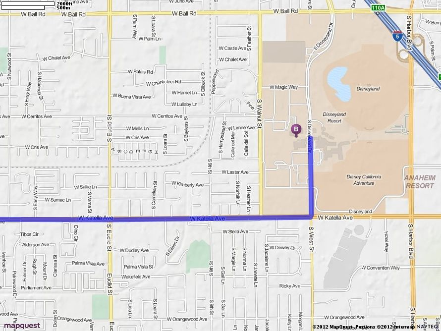 Driving Directions Map Long Beach Airport California Travel Downtown Disney